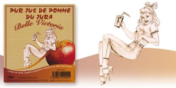 maquette étiquette jus de pomme