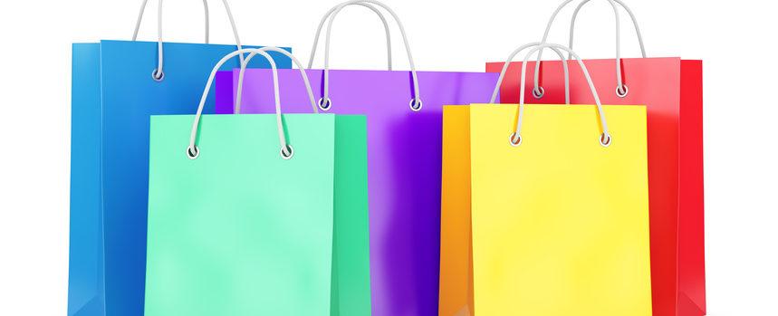 sacs papier couleur